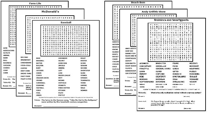 Free, Printable Word Searches - Word Search Puzzles